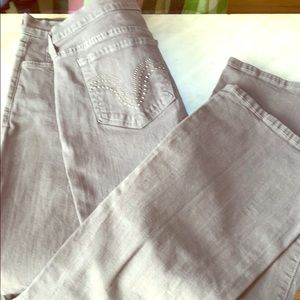NYDJ grey jeans glam bk pockets.